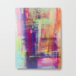 Colourful Brushes Metal Print