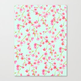 Cherry Blossom Pink Mint (for Mackenzie) Canvas Print