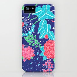 Flowers and Cactus iPhone Case