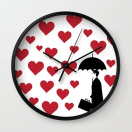 No Love Business Man Wall Clock