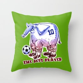 the best player elephant Throw Pillow