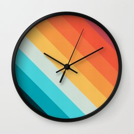Geometric bands 08 Wall Clock