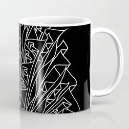 flame line art - black Coffee Mug