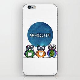 whoot!! iPhone Skin