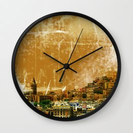 Istanbul city Wall Clock