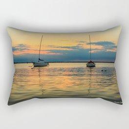 (Sailboats) At Bay Rectangular Pillow