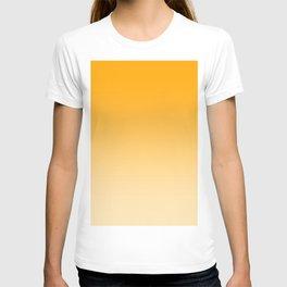 Orange to Pastel Orange Horizontal Linear Gradient T-shirt