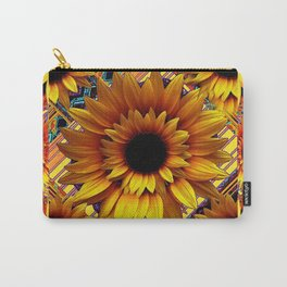 AWESOME GOLDEN SUNFLOWERS  PATTERN ART Carry-All Pouch