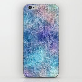 Colorful Cool Tones Blue Purple Abstract iPhone Skin