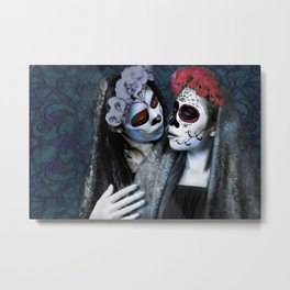 Beso de la Muerta Metal Print