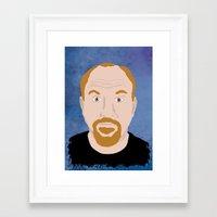 louis ck Framed Art Prints featuring Louis CK by Douglas Harrower