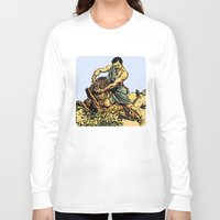 parks and recreation Long Sleeve T-shirts featuring Ron Swanson Slaying A Lion  |  Parks and Recreation by Silvio Ledbetter