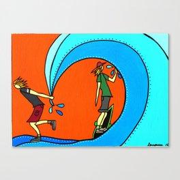 tarp surf Canvas Print