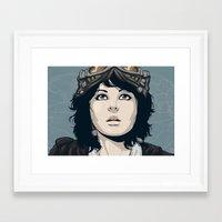 pilot Framed Art Prints featuring Pilot by Kimball Gray