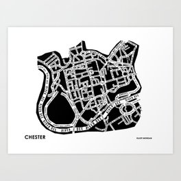 Chester Street Map Art Print