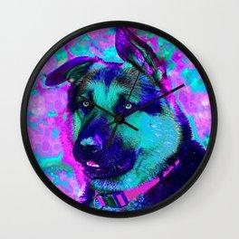 Artistic Dog Expression Wall Clock