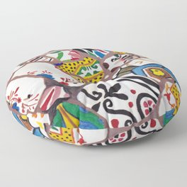 Gaudi tiles Barcelona Floor Pillow