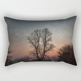 Starry Norwegian winter night Rectangular Pillow