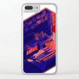 5AM Cat Clear iPhone Case