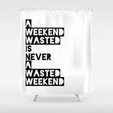 A Weekend Water (Black) Shower Curtain