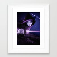 jedi Framed Art Prints featuring Lady Jedi by Jordygraph