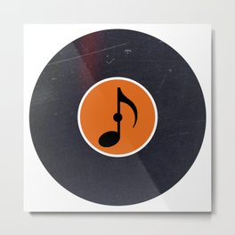 Vinyl Record Art & Design | Music Eighth Note Metal Print