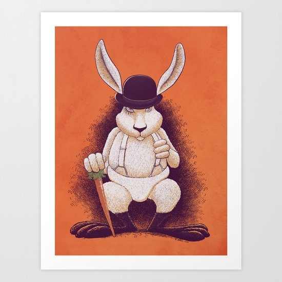 A Clocwork Carrot Art Print