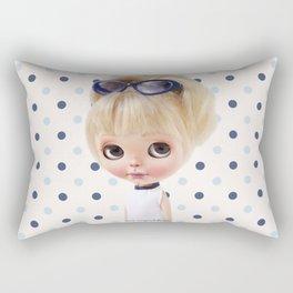 NAVY BLYTHE DOLL MEGAN BY ERREGIRO Rectangular Pillow