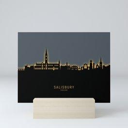 Salisbury England Skyline Mini Art Print