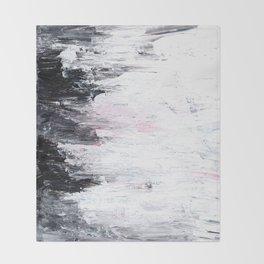 Ocean Abstract, Acrylic on Canvas Throw Blanket