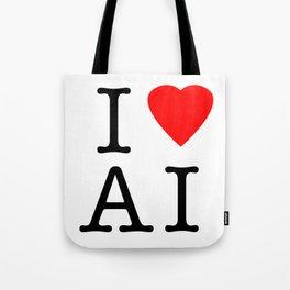I love Artificial Intelligence NY Parody Tote Bag