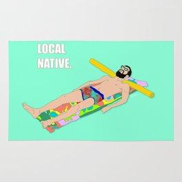 Local Native - Music Inspired Fan Cliche Digital Art Rug