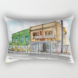 Fidel's cafe on Cuba street Sketch Rectangular Pillow