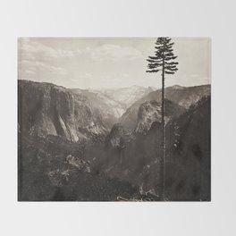 Vintage Yosemite Valley, California, ca. 1865 Throw Blanket