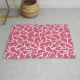 Branches - pink Rug