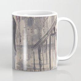 Silouette lovers on rainy street Coffee Mug