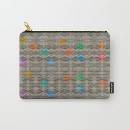 Gemstone Glitch Contrast Pattern Carry-All Pouch