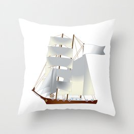 Ship, steamer, steamship, boat Throw Pillow