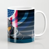 pacific rim Mugs featuring Pacific Rim v2 by milanova