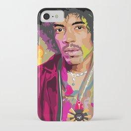 Jimi Hendrix Illustration iPhone Case