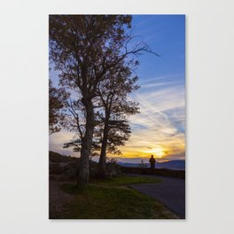 Watching the Sunset Canvas Print