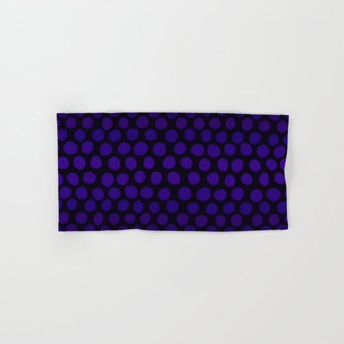 Purple Eggplant Ombre Dots Hand Bath Towel