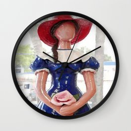 Muñeca Sin Rostro Abstract Vector Art Wall Clock