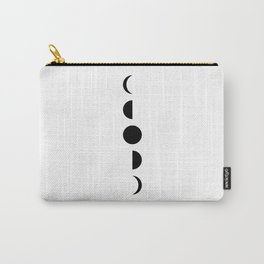 MOON VIBES - Phases of the moon in black & white Carry-All Pouch