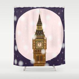 London Christmas Eve Shower Curtain