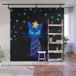 I hate Xmas Cat Wall Mural