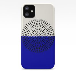 Abstract Sunrise Of Black Hole Sun. Navy Blue And Floralwhite iPhone Case