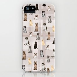 Sit, Smile Large Dogs in Taupe iPhone Case