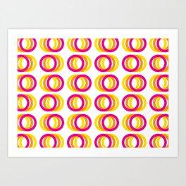 Motion rings Art Print