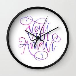 Veni Vidi Amavi Wall Clock
